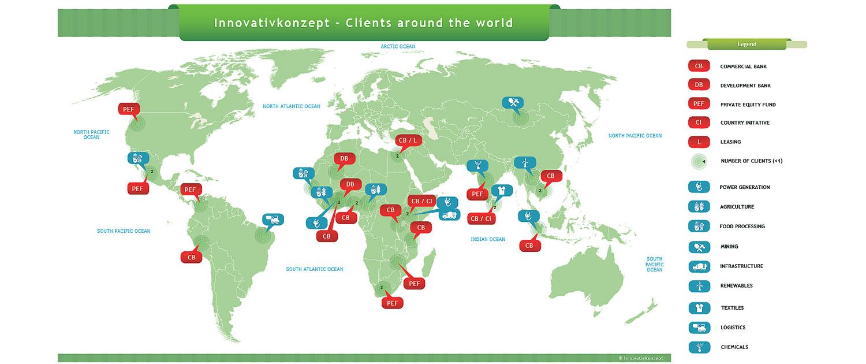 Map of Clients Innovativkonzept