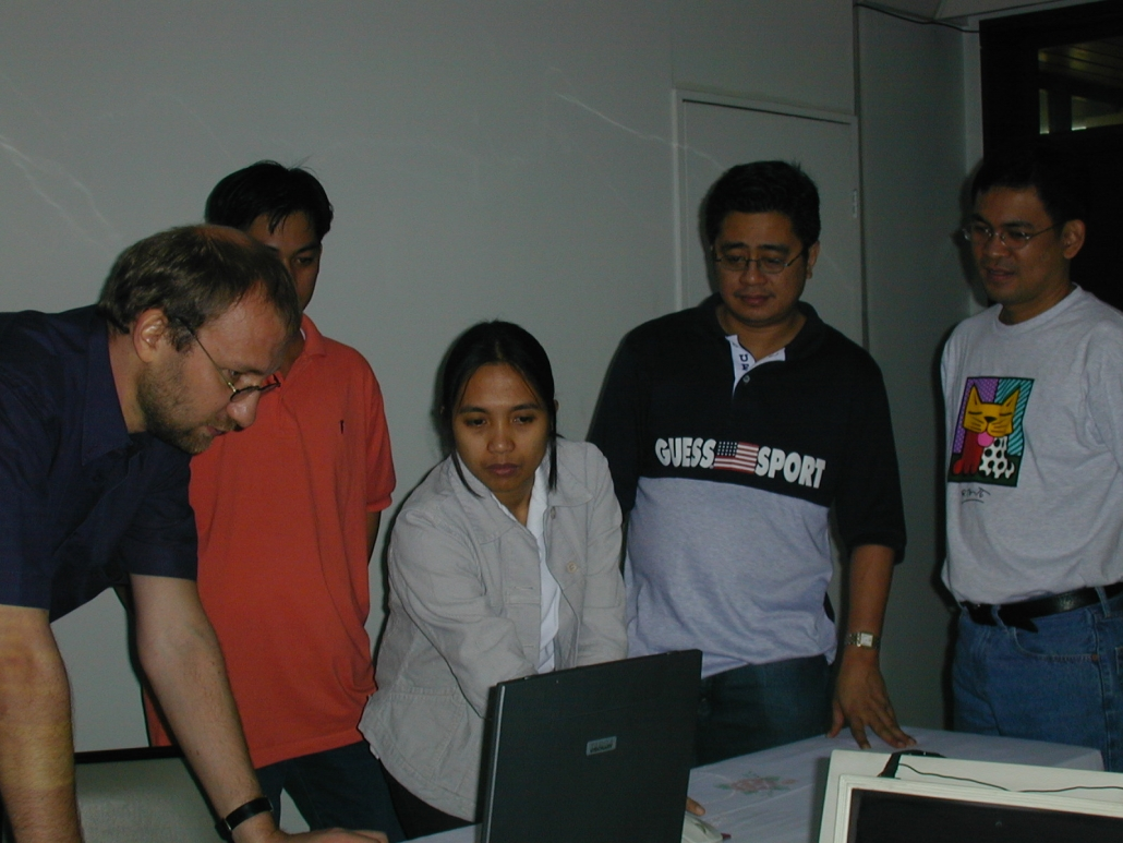 Discussing the procedures with Philippine bankers