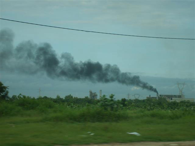 Excessive air pollution